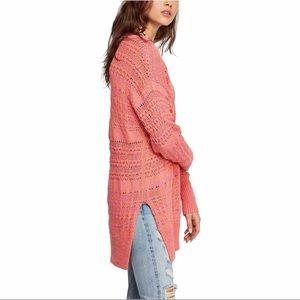 Free People Long Sweater Hot Tropics Paloma Combo